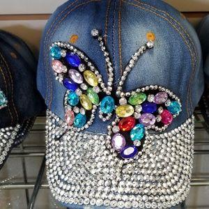 Butterfly bling cap